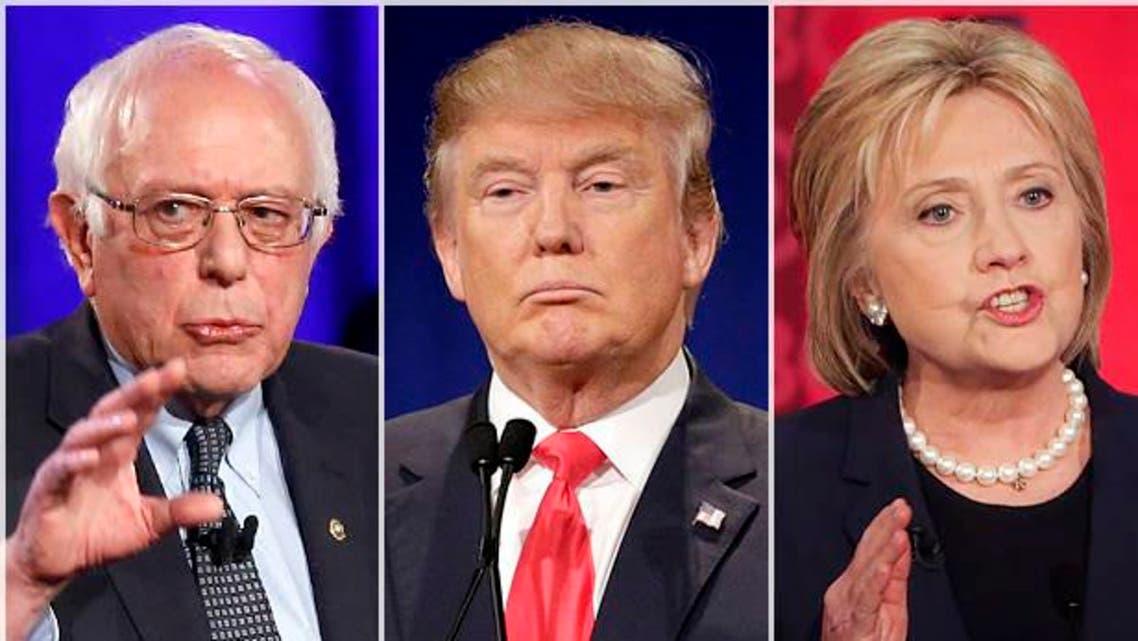 Bernie Sanders, Donald Trump, Hillary Clinton (Credit: AP/Patrick Semansky/Chuck Burton/David Goldman)