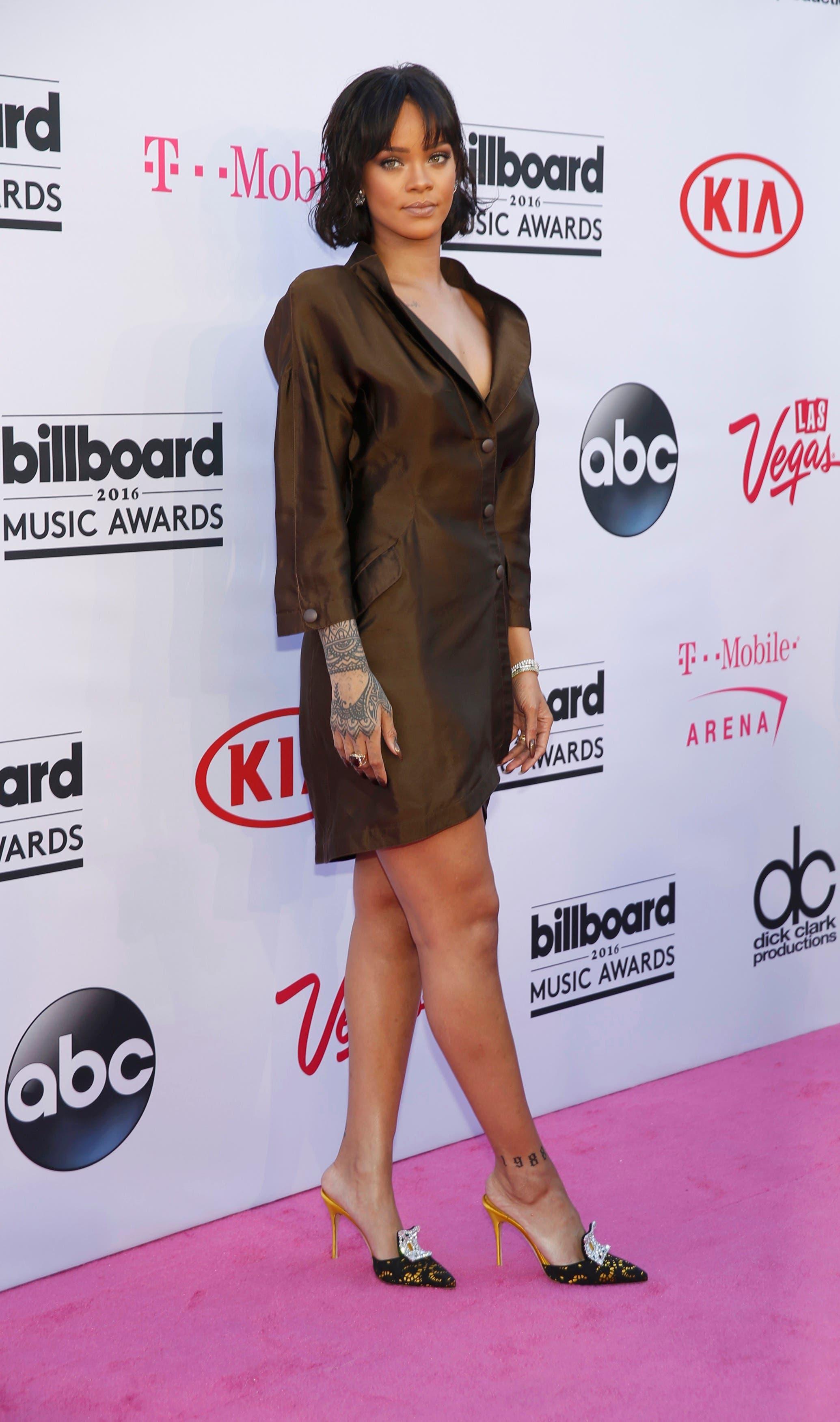 Singer Rihanna arrives at the 2016 Billboard Awards in Las Vegas, Nevada, US, May 22, 2016.  (Reuters)