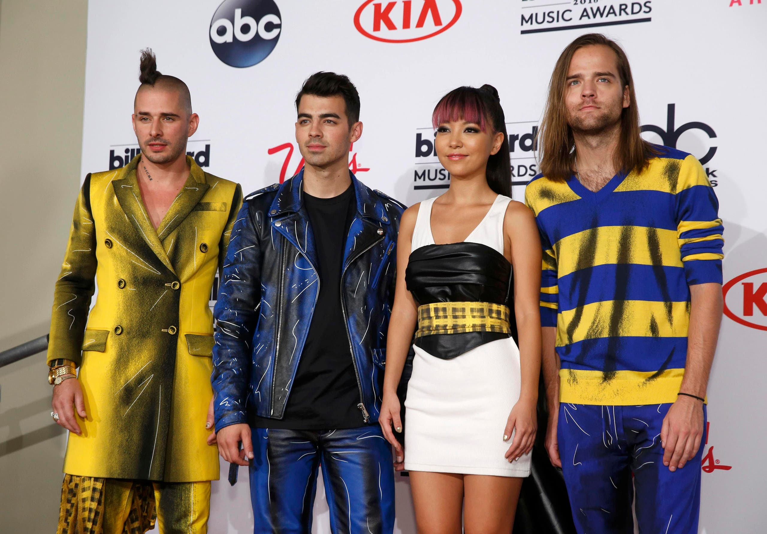 Rock band DNCE poses backstage at the 2016 Billboard Awards in Las Vegas, Nevada, US, May 22, 2016. (Reuters)