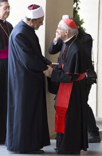 البابا وشيخ الأزهر