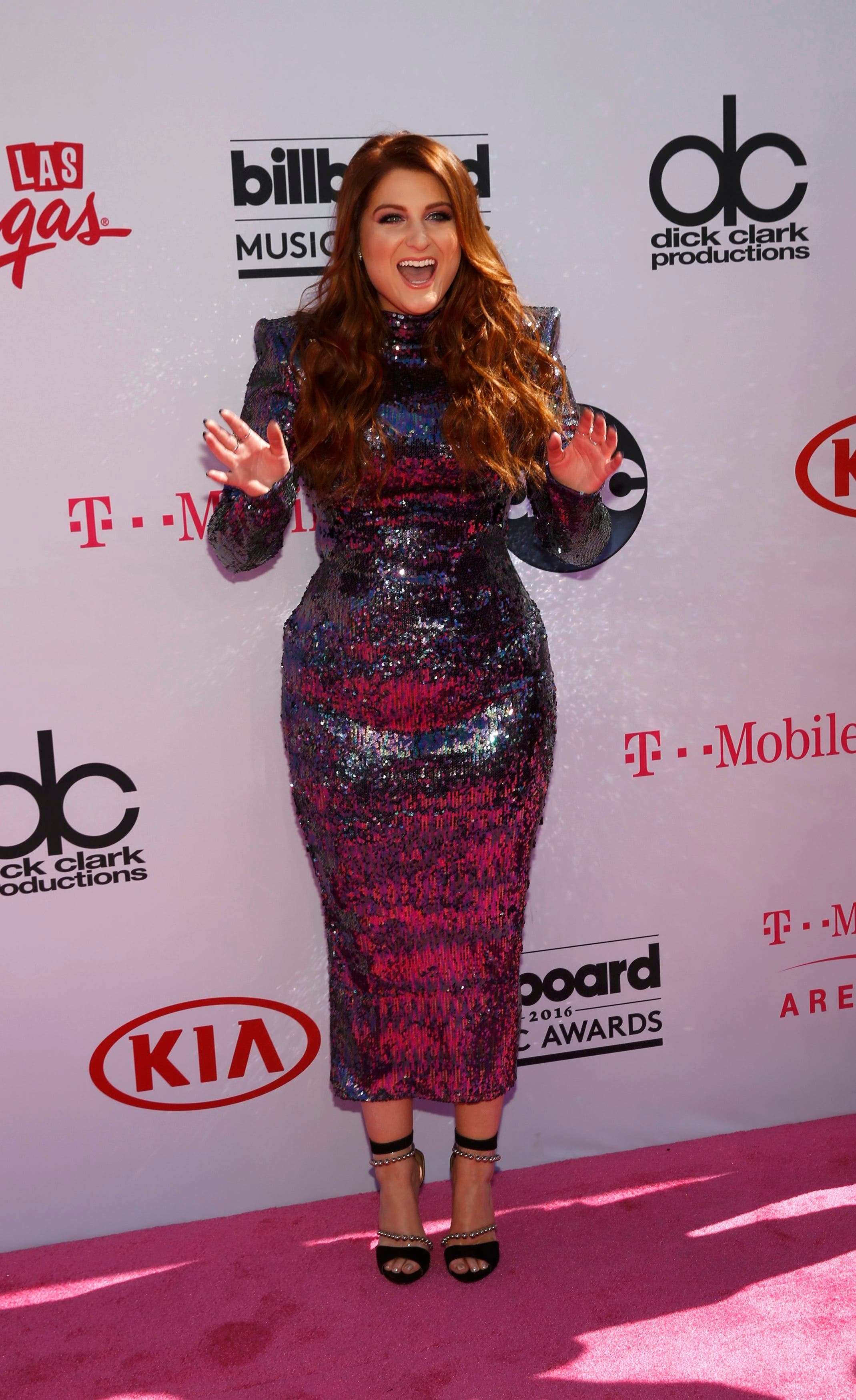 Singer Meghan Trainor arrives at the 2016 Billboard Awards in Las Vegas, Nevada, US, May 22, 2016. (Reuters)