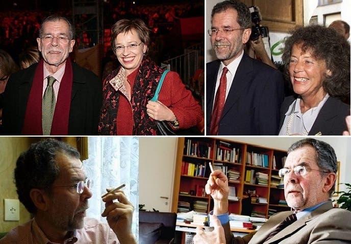 مع طليقته بريجيت وأم ابنيه الوحيدين، ومع من تزوجها العام الماضي واسمها دوريس