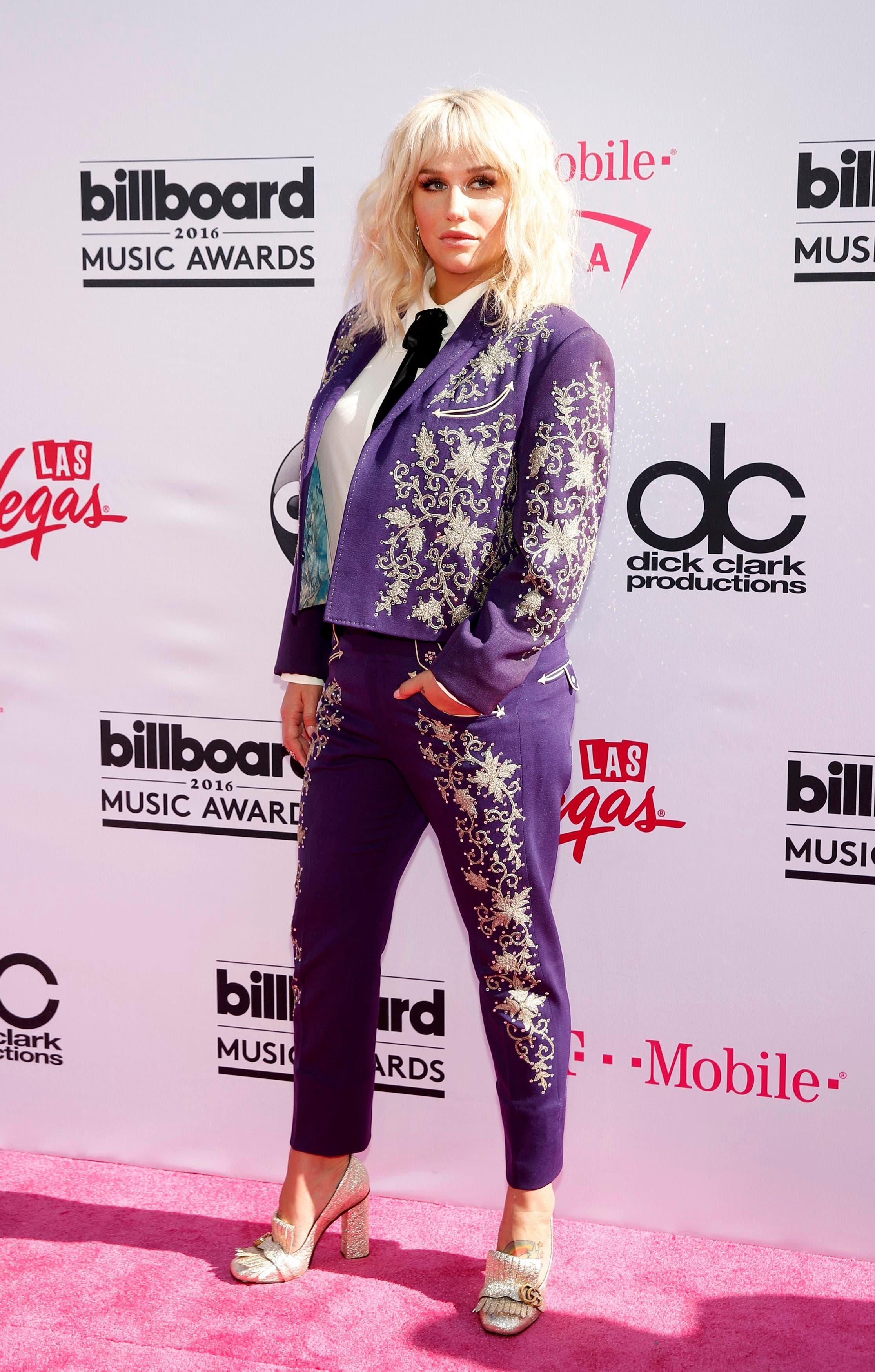 Singer Kesha arrives at the 2016 Billboard Awards in Las Vegas, Nevada, US, May 22, 2016. (Reuters)