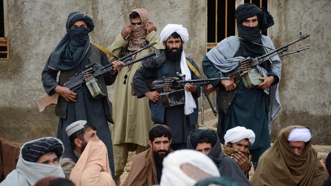 Afghan Taliban fighters AP