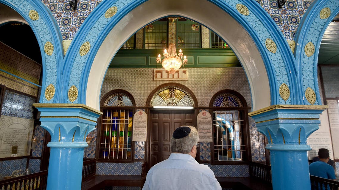 Chief executive of Liberal Judaism in the United Kingdon Rabbi Danny Rich is seen at the Ghriba synagogue in the Tunisian resort island of Djerba during the annual Jewish pilgrimage on May 25, 2016. (afp)
