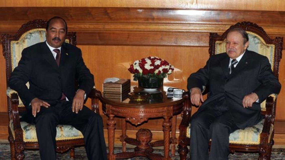 الرئيس الجزائري مع نظيره الموريتاني