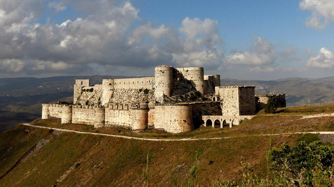 The French team visited the 900-year-old Krak des Chevaliers castle, a UNESCO World Heritage site to discuss the damage and deliver advice. (Reuters)