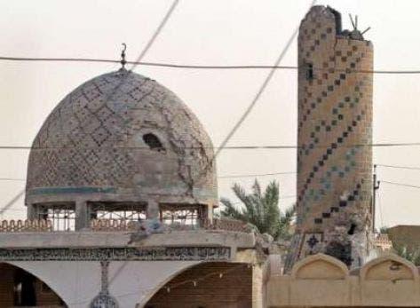 جامع الكرمة الكبير بعد تدميره من قبل ميليشيا الحشد الشعبي