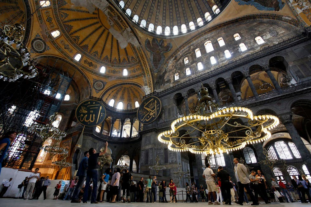 The sixth-century edifice -- whose stunning architecture is a magnet for tourists worldwide -- has been a museum since 1935, open to believers of all faiths. (Reuters)