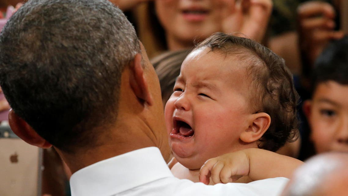 Obama proves once again he can make any baby stop crying