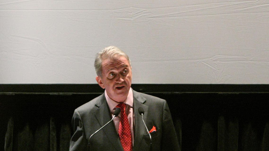 """: U.N. Special Envoy Terje Rod-Larsen addresses the audience during the HBO documentary screening of """"Sergio"""" at United Nations on June 18, 2009 in New York City. afp"""