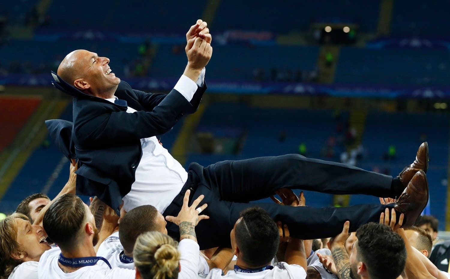 Madrid's 5-3 penalty shootout win over city rival Atletico Madrid in a Champions League final that finished 1-1 after extra time Saturday also brought Zidane back to the pinnacle of the game. (Reuters)