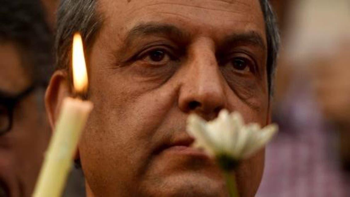 head of Egypt's press syndicate, Yahiya Kallash AFP