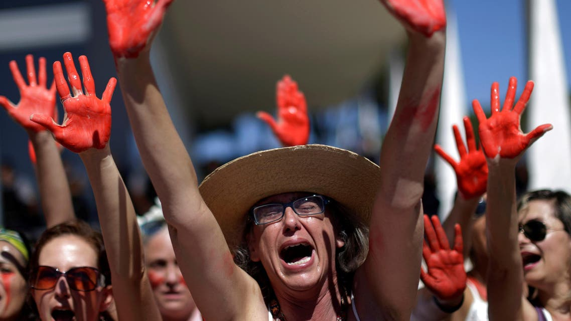 Demonstrators attend a protest against rape and violence against women in Brasilia, Brazil, May 29, 2016. (Reuters)