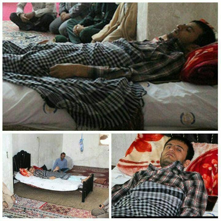 سید عالم اختری در جنگ سوریه دچار قطعی نخاع شد