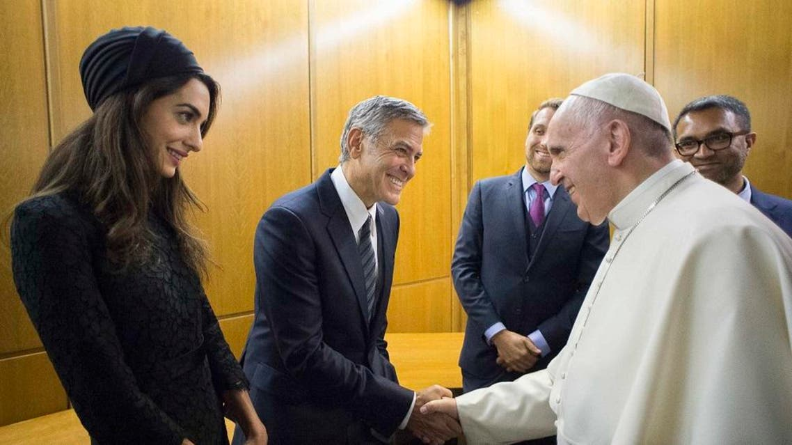 Pope gives awards to Richard Gere, George Clooney and Salma Hayek REUTERS