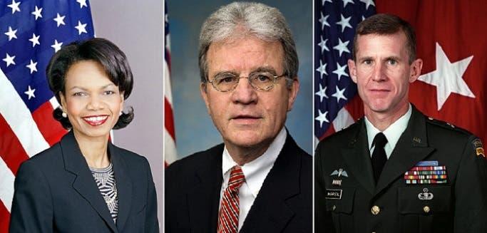 الأكثر ترجيحاً نسبة لواشنطن بوست هم الجنرال ستانلي مكريستال والسيناتور توم كوبرن وكونداليزا رايس