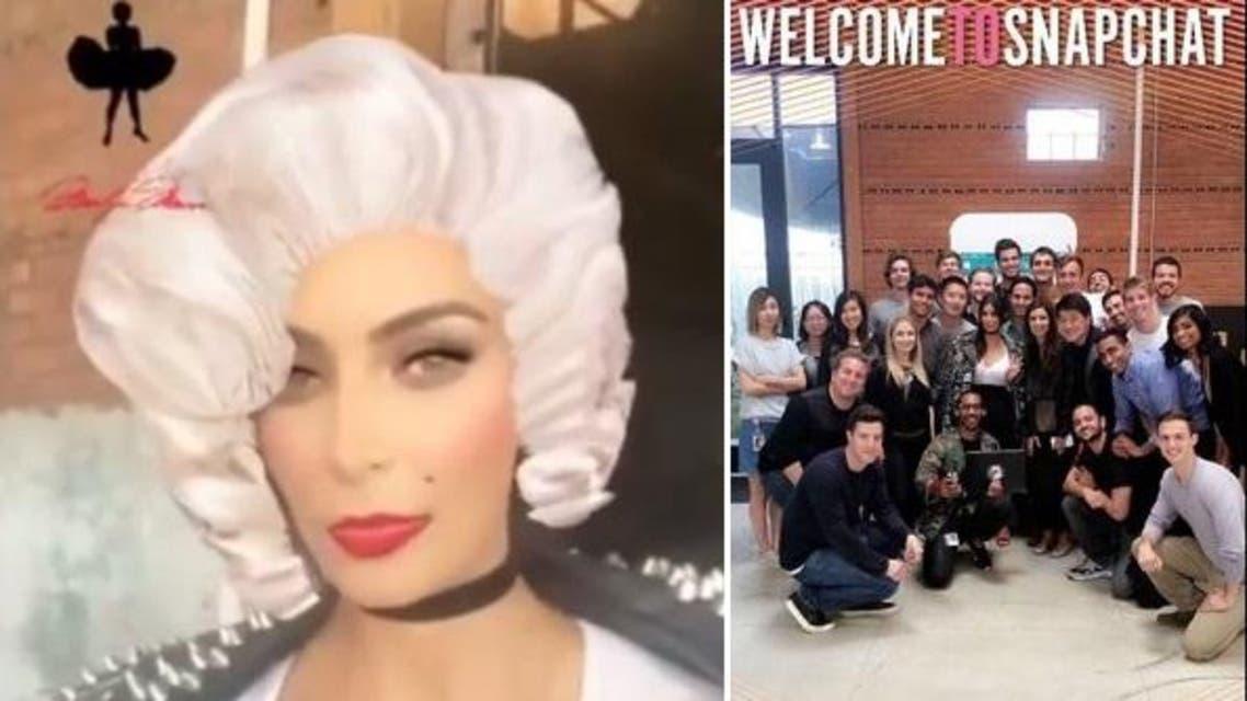 Kim made her way to the social media application's HQ. (Instagram: kimksnapchats)