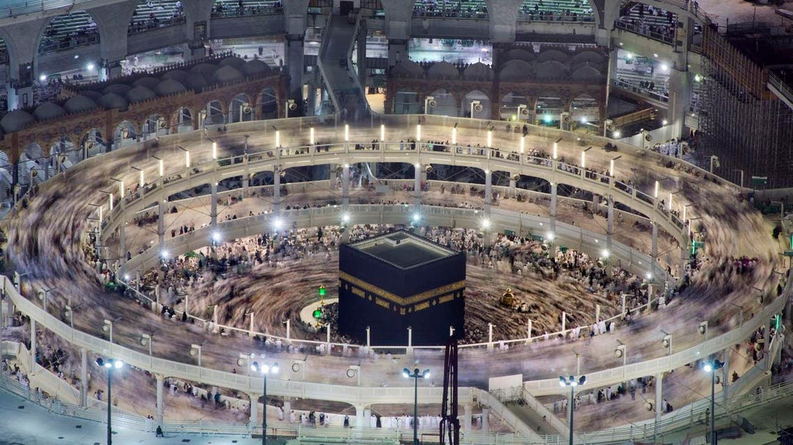 Muslim pilgrims circumambulate the Kaaba, the cubic building at the Grand Mosque, during the minor pilgrimage, known as Umrah, in the Muslim holy city of Mecca, Saudi Arabia, Friday, March 11, 2016. (AP Photo/Amr Nabil)