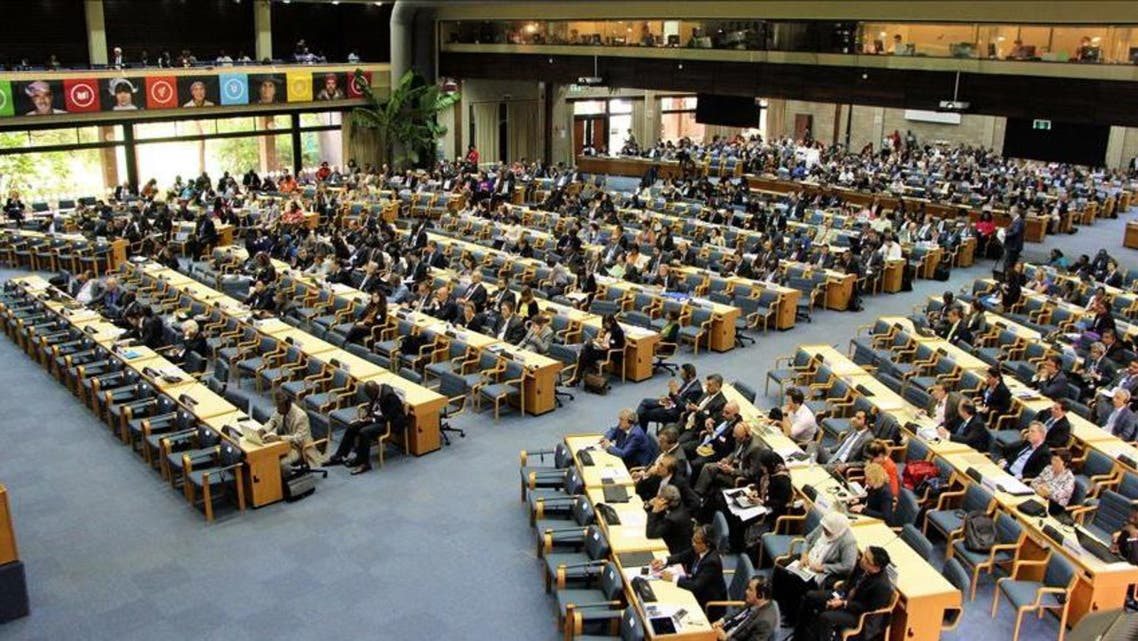 United Nations Environment Assembly held at the UNEP's headquarters in Nairobi, Kenya on May 23, 2016. (AFP)