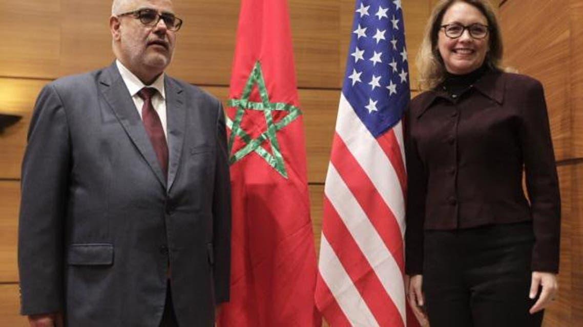 رئيس حكومة المغرب مع مديرة حساب تحدي الألفية الأميركي