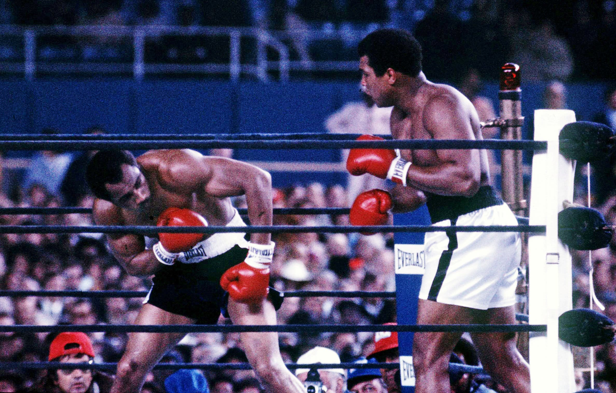 Muhammad Ali (R) fights Ken Norton at Yankee Stadium in the third fight between the two heavyweights in New York City. (Reuters)