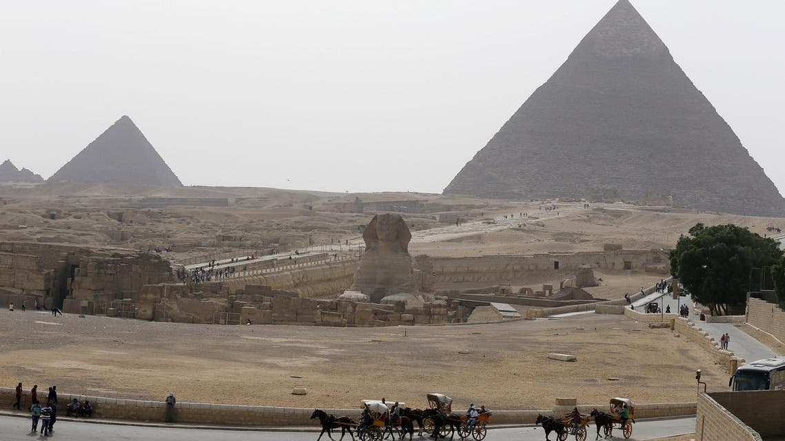 The Sphinx and the Great Pyramids of Giza are pictured on the outskirts of Cairo, Egypt, April 10, 2016. (Reuters)