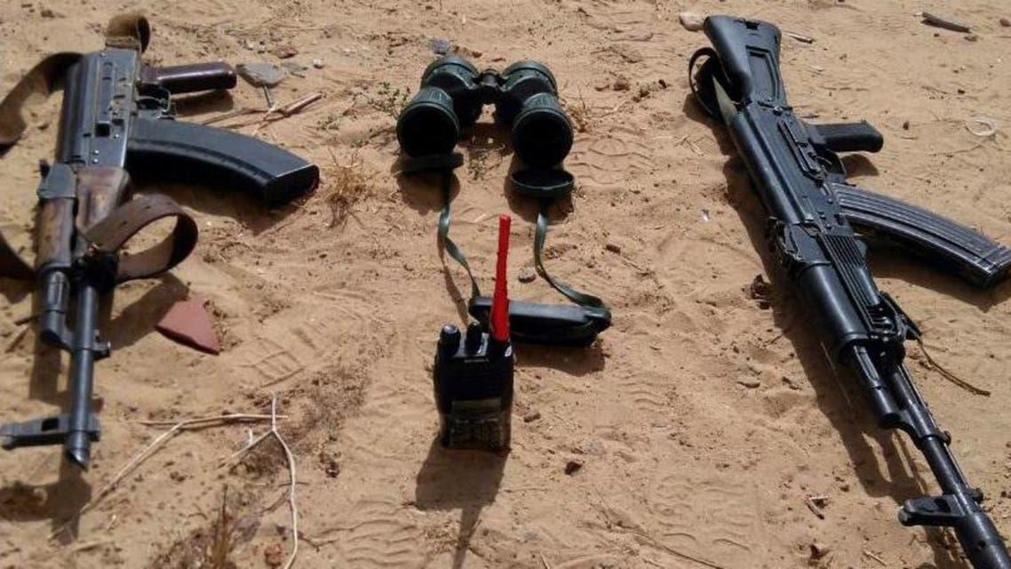 أسلحة عثر عليها شمال سيناء