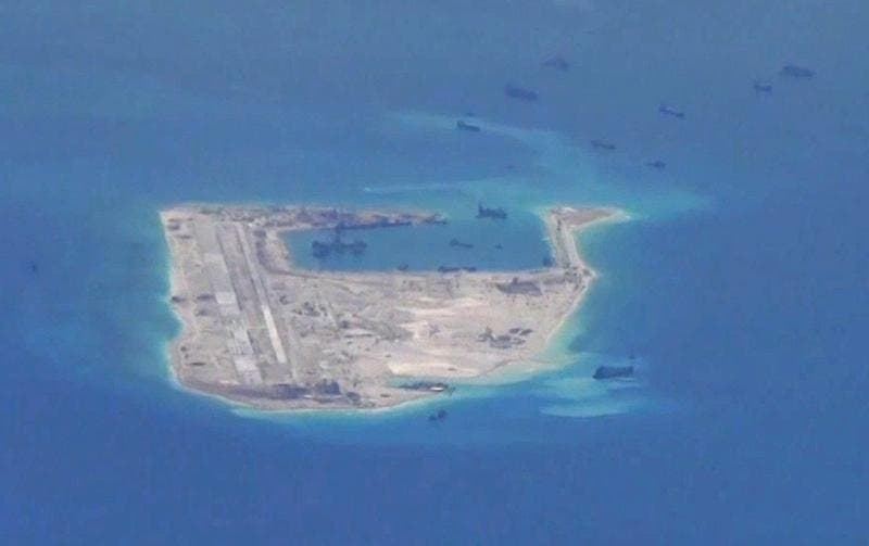 A controversial island being created in the South China Sea by the Chinese (Photo: Reuters)
