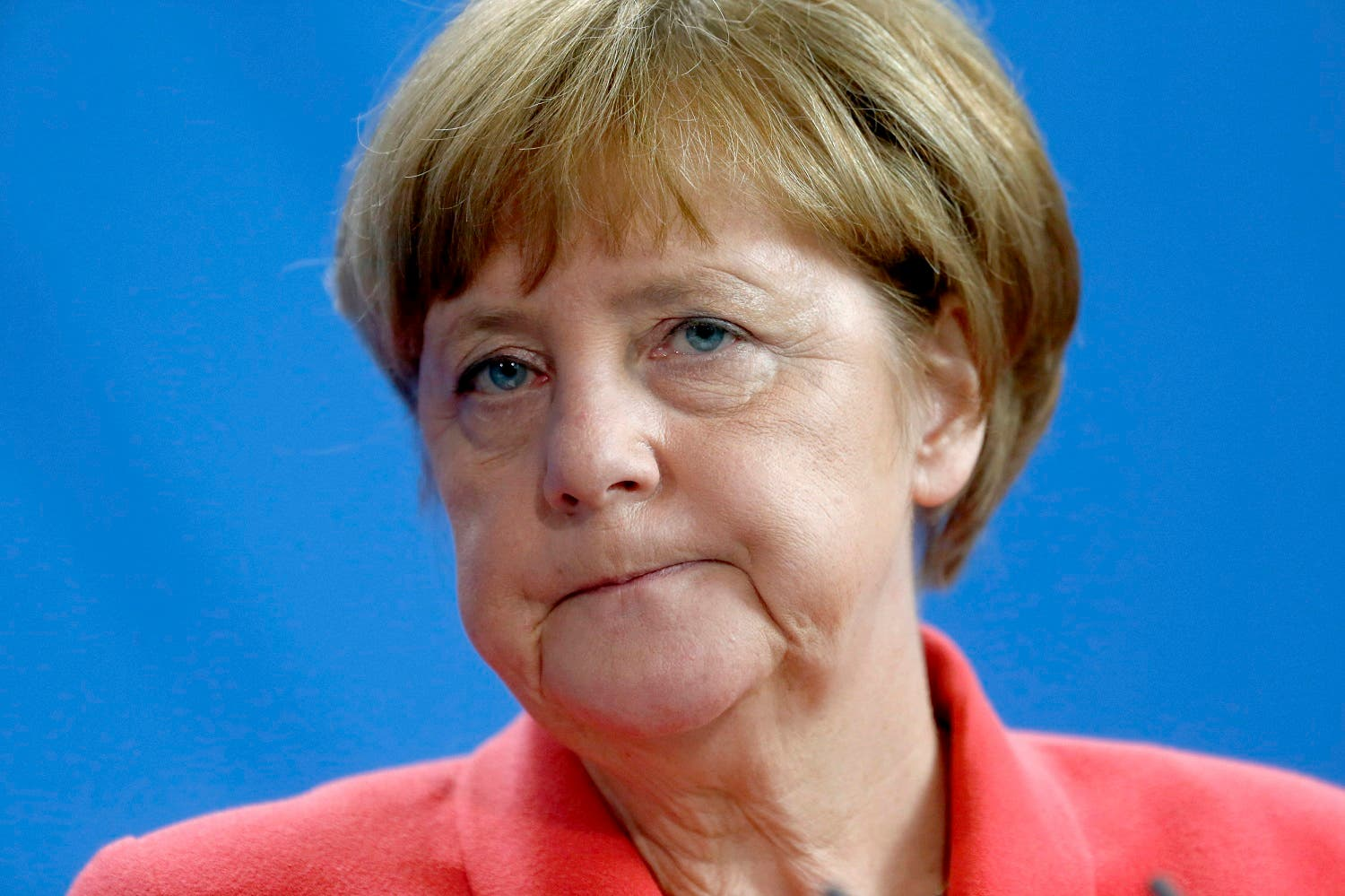 German Chancellor Angela Merkel attends a news conference following talks with NATO Secretary-General Jens Stoltenberg at the Chancellery in Berlin, Germany, June 2, 2016. REUTERS
