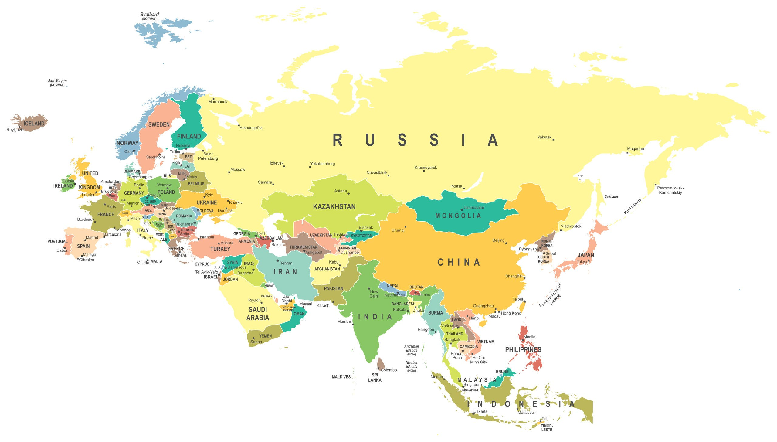 A united, hostile Eurasia would be the only entity able to match the United States economically and militarily. (Shutterstock)