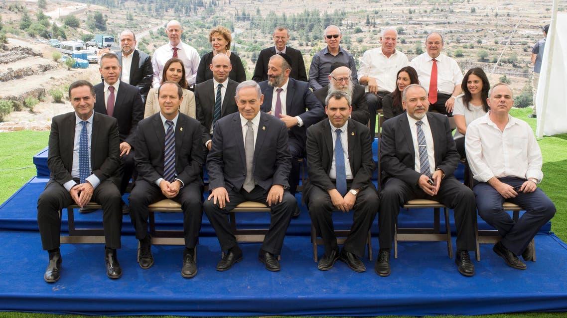 اجتماع لحكومة نتنياهو في إحدى ضواحي القدس