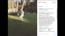 Watch Neymar and Justin Bieber show off soccer skills