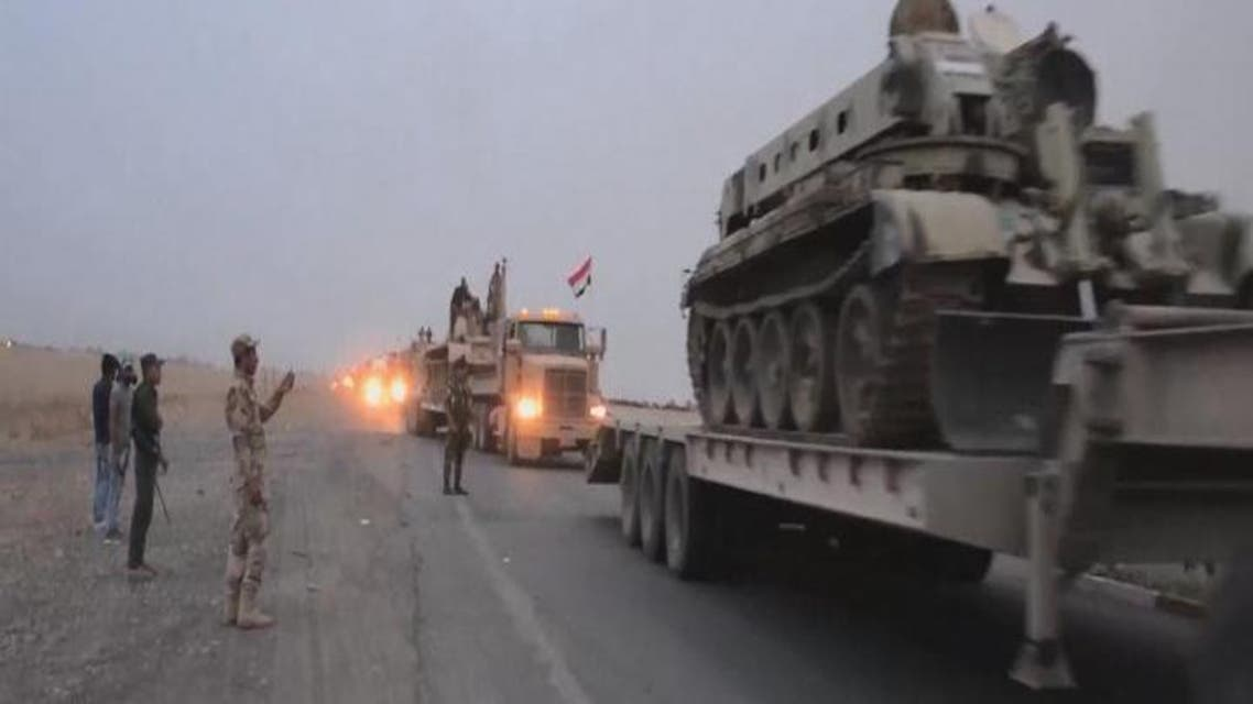 THUMBNAIL_ تعزيزات عراقية استعدادا لمعركة الموصل