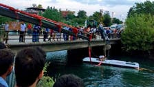 At least 14 killed as Turkish bus plunges into canal