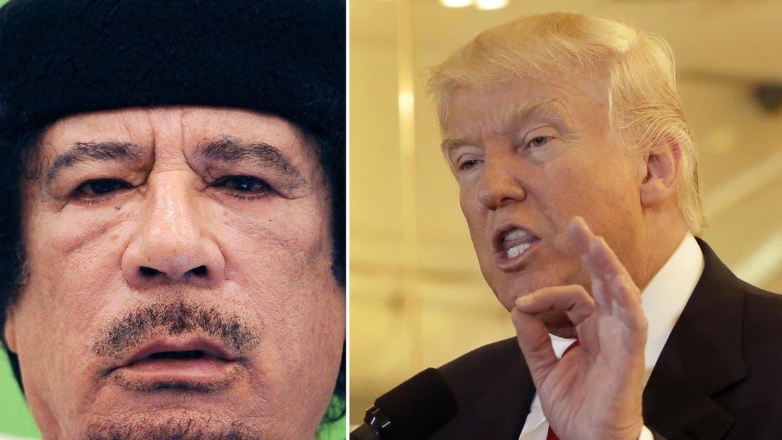 trump qaddafi AP Reuters