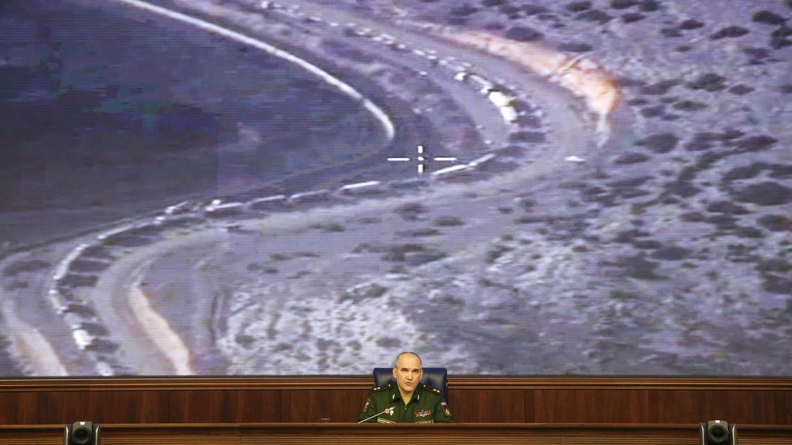 Chief of the Main Operational Directorate of the General Staff of the Russian Armed Forces Lieutenant General Sergei Rudskoy speaks during a briefing in Moscow, Russia, December 25, 2015. (Reuters)