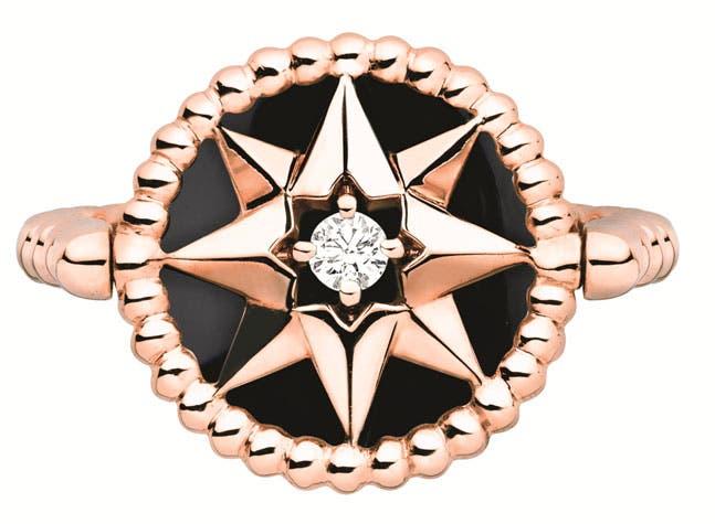 خاتم من الذهب الوردي الأونيكس والألماس