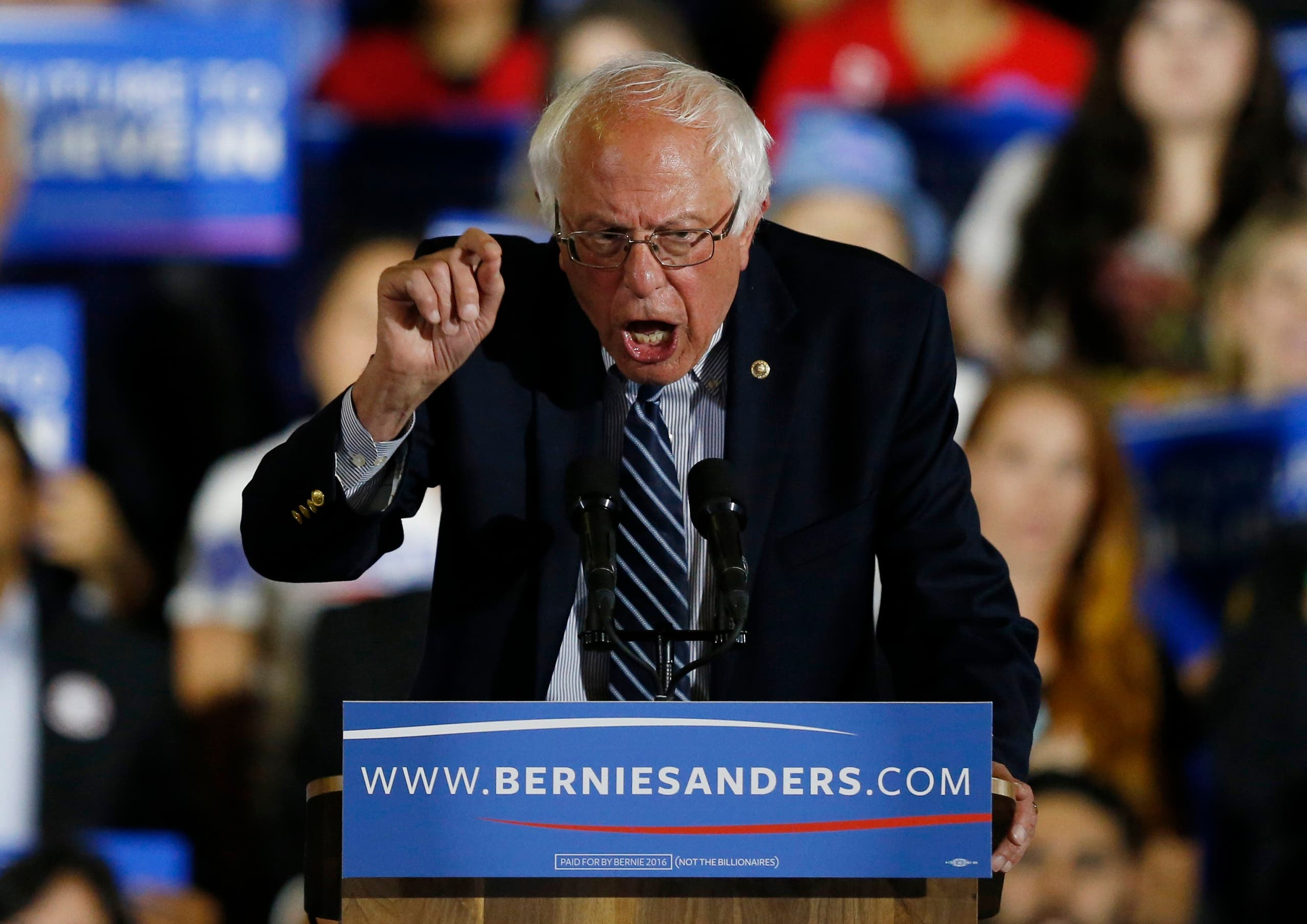 Bernie Sanders says he will 'continue the fight' in the last primary of the Democratic campaign next week in Washington, D.C. (Reuters)