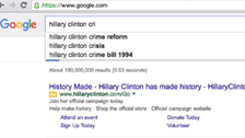 Google denies changing search suggestions to aid Hillary Clinton