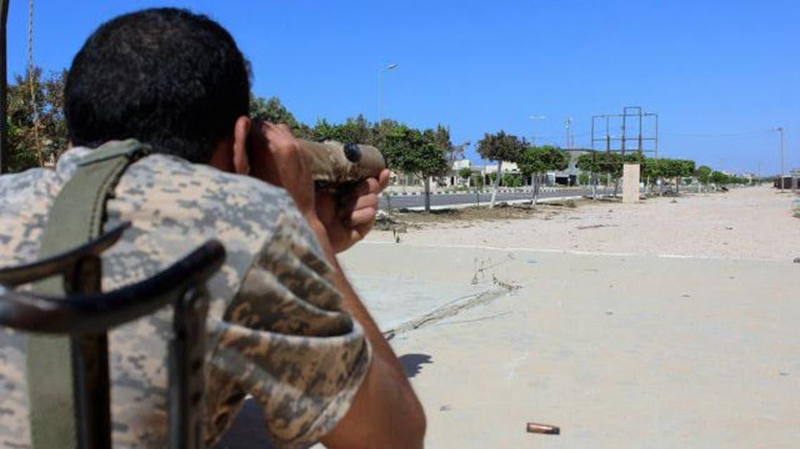 عناصر من حكومة الوفاق الليبية داخل سرت