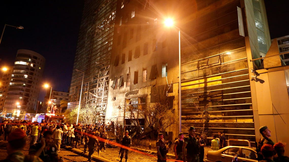 Powerful explosion near bank in Beirut