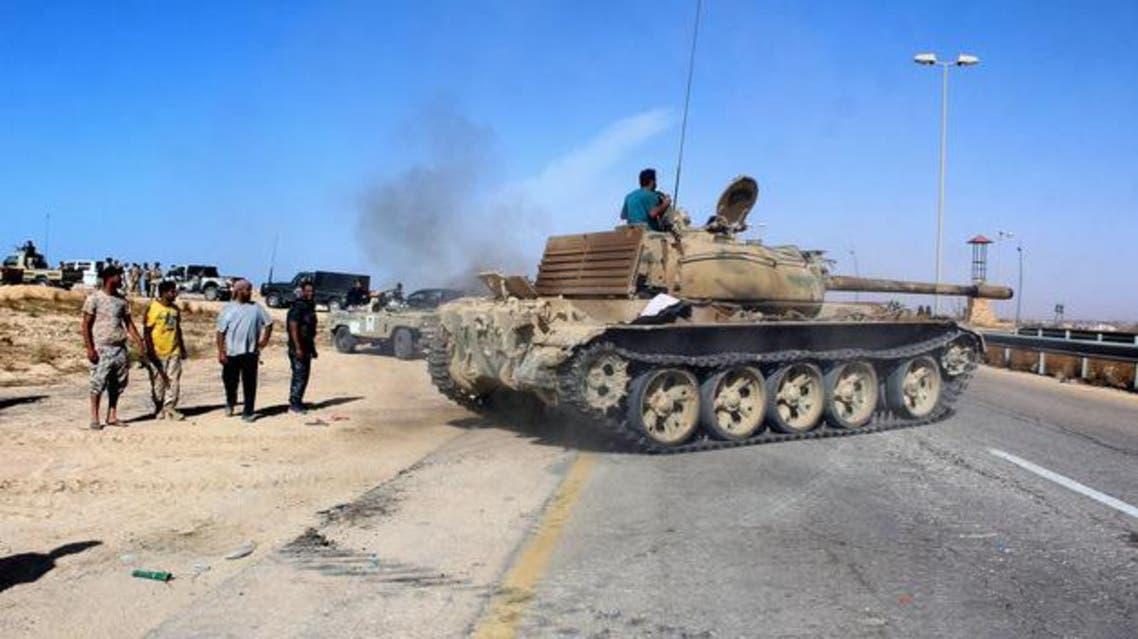 دبابة تابعة لقوات حكومة الوفاق الليبية