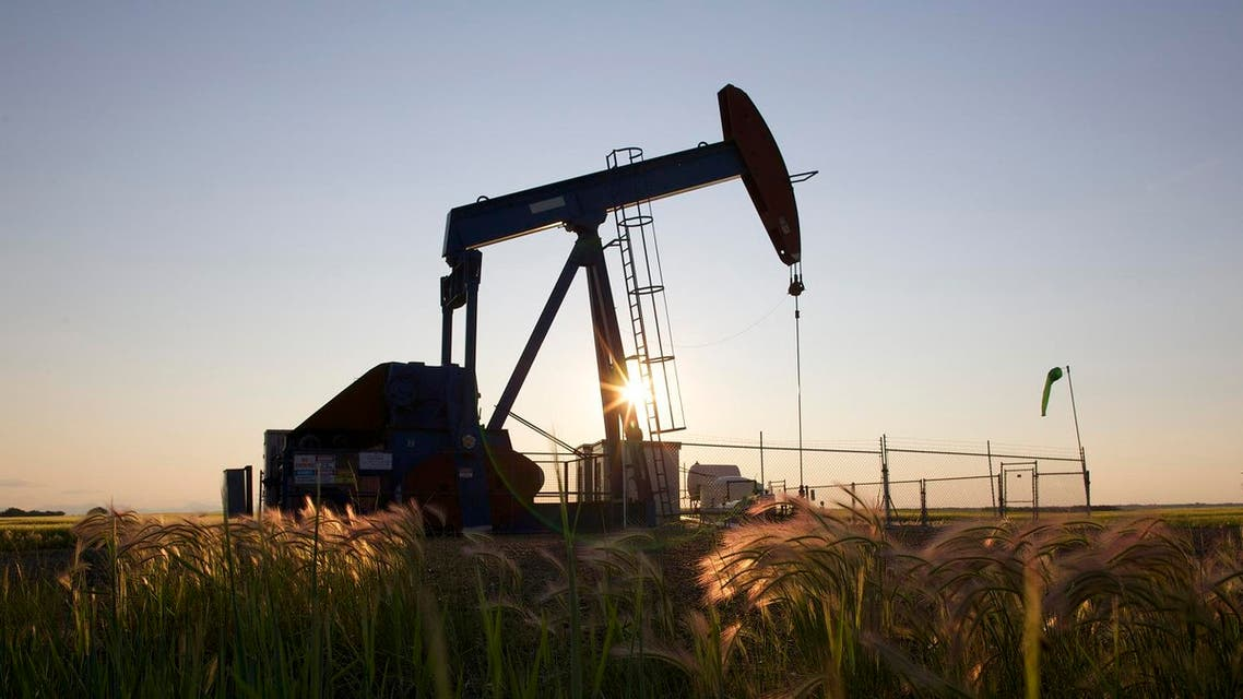 An oil pump jack pumps oil in a field near Calgary, Alberta, July 21, 2014. Pump jacks are used to pump crude oil out of the ground after an oil well has been drilled. REUTERS