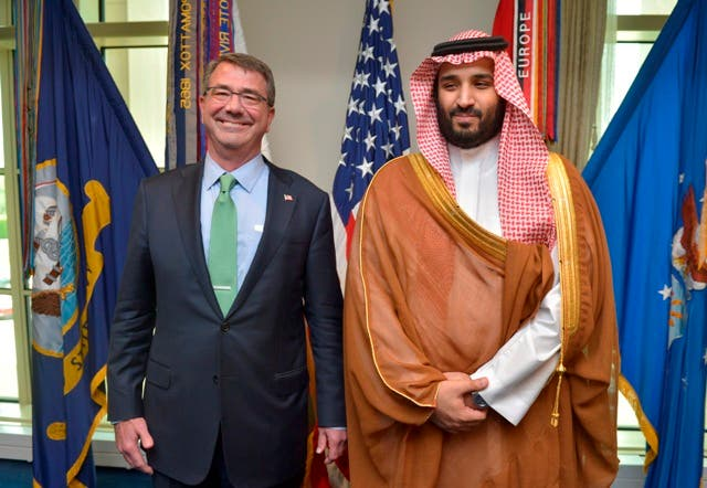 File photo from May, 2015: Deputy Crown Prince Mohammed bin Salman meets with US Defense Secretary. (Photo courtesy: Saudi embassy in US)