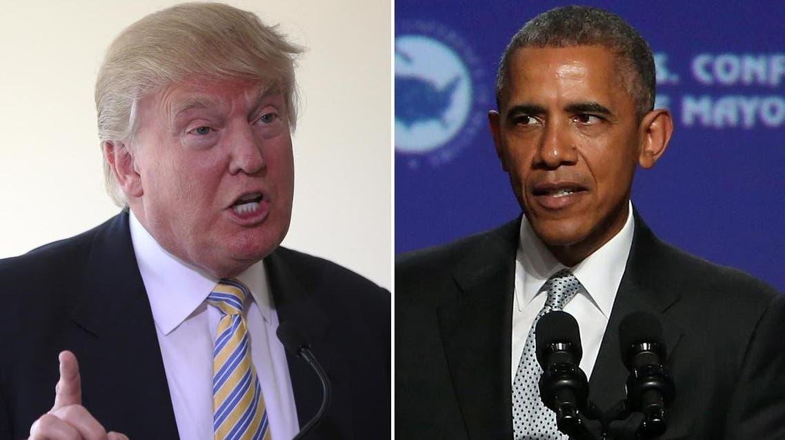 الرئيس الأميركي باراك أوباما والمرشح الجمهوري دونالد ترامب