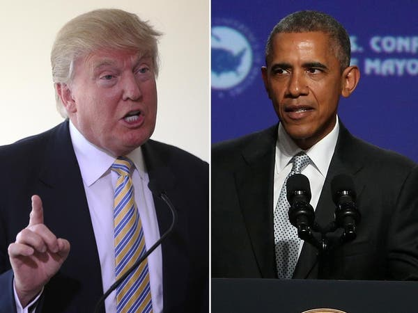 ترامب ردا على أوباما: كلينتون غير مؤهلة لأي منصب حكومي