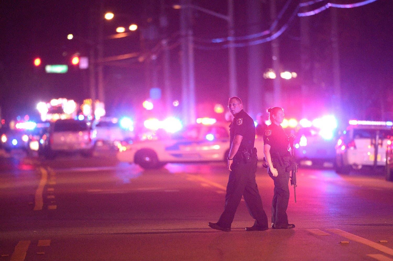 Police outside the scene of the Orlando nightclub massacre