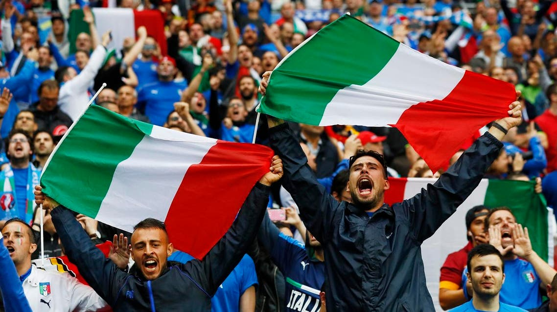 Football Soccer - Belgium v Italy - EURO 2016 - Group E - Stade de Lyon, Lyon, France - 13/6/16 Italy fans before the match REUTERS/Jason Cairnduff Livepic