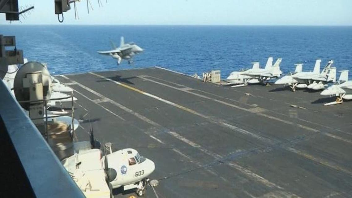 THUMBNAIL_ حاملة الطائرات آيزنهاور تدخل مياه البحر المتوسط